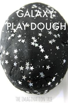 Make galaxy play dough for exciting space themed imaginative play and small world play set ups. Space themed play dough fun for preschoolers to enjoy! The first time we made inky black, galaxy play d