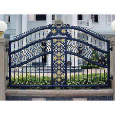 Wrought Iron Driveway Gates, Fence Gates, Simple Gate Designs, Latest Gate Design, Iron Main Gate Design, Sliding Gate Opener, Human Base, Garden Pool, Outdoor Areas