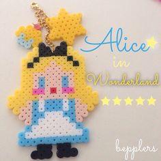 Alice in Wonderland perler beads by bepplers