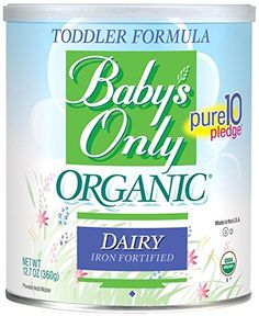 Babys Only Organic Toddler Formula, Dairy Iron Fortified, Canisters (Pack of by Babys Only [Foods]. Baby's only organic dairy toddler formula, ounce can, 1680 calories per can. Sold by each can. Lactose Free Formula, Lactose Free Diet, Gluten Free, Lactose Sensitivity, Babys Only, Organic Formula, Formula Milk, Organic Cleaning Products, Complete Nutrition