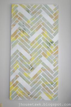 J House Tawk: DIY Herringbone Canvas Art