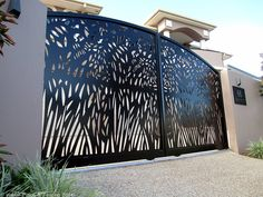 Insular created these custom made laser cut sliding and pedestrian gates for our client on the Gold Coast. Description from insular.com.au. I searched for this on bing.com/images