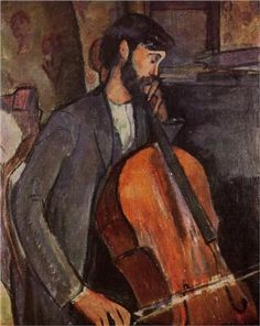 Study for The Cellist - Modigliani