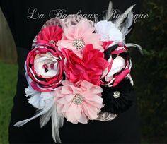 Pink/Fuchsia/White/Black Maternity Sash/Pregnancy Sash/Photo Prop/Maternity Belt/Flower Sash/Baby Girl by LaBandeauxBowtique on Etsy