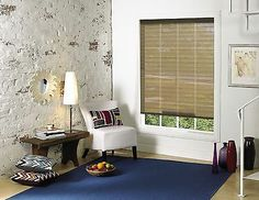 Tan/Brown Interior/Exterior Roll up Window Shades for Sunrooms, Basements, Porch