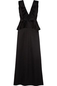 Chloé Wool and silk-blend satin gown | NET-A-PORTER