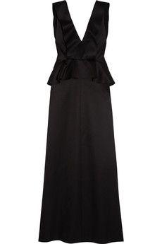 Chloé Wool and silk-blend satin gown | NET-A-PORTER