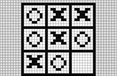 Tic Tac Toe Pixel Art from BrikBook.com #TicTacToe #XsandOs #game #pixel #pixelart #8bit  Shop more designs at http://www.brikbook.com