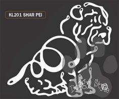 K Line Shar Pei Dog Car Window Decal Tattoo http://doggystylegifts.com/products/k-line-shar-pei-dog-car-window-decal-tattoo