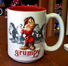 Disney Park Grumpy Raised Design Ceramic Mug NEW: Brighten up your morning when you pour your coffee or any hot beverage in this delightful ceramic cup. Cute Coffee Cups, Disney Coffee Mugs, Disney Cups, Hot Chocolate Mug, World Recipes, Ceramic Cups, Mug Cup, Walt Disney, Tea Cups