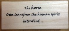 Mounted Rubber Stamp, Western Stamps, Horse, Scenic Stamps, Wild Horses Border