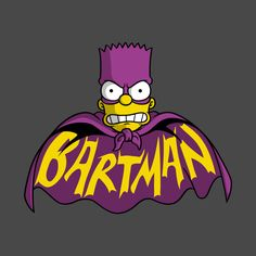 The Bartman by Firebeard - Get Free Worldwide Shipping! This neat design is available on comfy T-shirt (including oversized shirts up to ladies fit and kids shirts), sweatshirts, hoodies, phone cases, and more. Dope Cartoons, Dope Cartoon Art, Retro Cartoons, Cartoon Tv, Cartoon Characters, Simpsons Tattoo, Simpsons Drawings, Simpsons Art, Hero Marvel