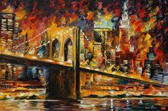 Leonid Afremov - Brooklyn Bridge