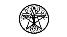 Tree of Life style tattoo design I make to add to my existing pentacle tattoo so that it would look a bit classier. Pentacle Tattoo, Wicca Tattoo, Body Art Tattoos, New Tattoos, Small Tattoos, Wiccan Symbols, Pagan, Wicca For Beginners, Superhero Images