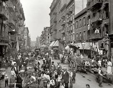 "Little Italy circa 1900. ""Mulberry Street, New York."""