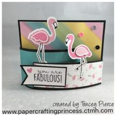 CTMH Tickled Pink stamps & Thin Cuts Bendy Card using Calypso Paper.