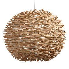 Wicker Nest Pendant Lamp | World Market Pendant Chandelier, Pendant Lighting, Nursery Chandelier, Boho Lighting, Lighting Ideas, Lighting Design, Ceiling Lighting, Ceiling Fans, Interior Lighting