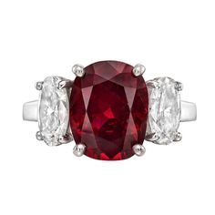 4.83 Carat Ruby & Diamond Ring | From a unique collection of vintage cocktail rings at http://www.1stdibs.com/jewelry/rings/cocktail-rings/