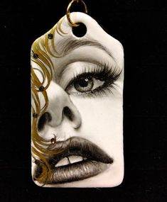 Handpainted by Mariela Villasmil 🇺🇸 🇻🇪 on 0306 - Artists best painted TAG by Bijoux de Passy Blink Of An Eye, Lost Art, Painting, Hand Painted, Artist, Beauty, Faces, Porcelain, Bags
