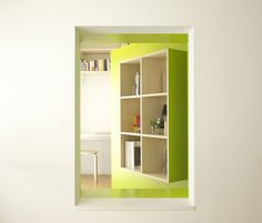 Ingenious and Highly Practical Mobile Wall Addition for Small Apartments - http://freshome.com/2010/10/13/ingenious-and-highly-practical-mobile-wall-addition-for-small-apartments/
