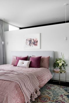 A hassle-free building experience gave Kayla and Darius Boyd this dreamy home amongst the leafy streets of Brisbane's north. Blush Bedroom, Dream Bedroom, Home Decor Bedroom, Modern Bedroom, Bedroom Ideas, Bedroom Inspiration Cozy, Decoration Inspiration, Home Office, Australia House
