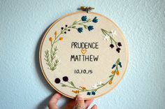 Wedding Embroidery Hoop Customize with Couple's by BreezebotPunch