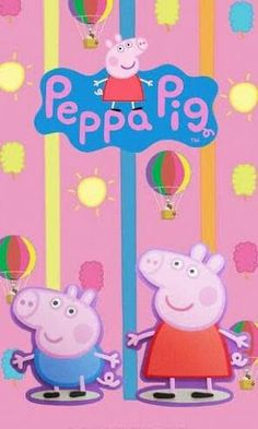 Peppa Pig watch it every day better than the news Who Am I Peppa Pig Wallpaper, 3d Wallpaper, Peppa Pig Background, Farm Animals, Tweety, Pixar, Fairy Tales, Kawaii, Cartoon