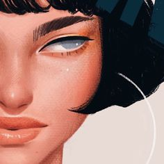 Super duper top secret project in collaboration with ! It's been one of my favourite projects to work on so far, I can't wait to… Female Drawing, Female Art, Art Sketches, Art Drawings, Guache, Copics, Illustrations And Posters, Aesthetic Art, Portrait Art