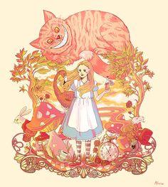 Sundown in Wonderland by ~alicia-chan
