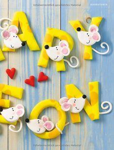Fimo-Buchstaben