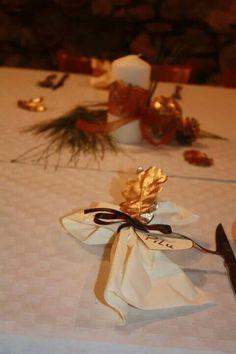 Decoración mesa de Navidad.