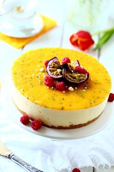 Mangohyydykekakku maistuu keväälle Easter Recipes, Panna Cotta, Cheesecake, Pudding, Baking, Ethnic Recipes, Desserts, Food, Tailgate Desserts