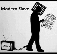 Visually Blogging/Visual Persuasion.  Slave to society, trapped by the media (glamour), head trapped in a cage so he can't give his word out to what he thinks about recent events, as it shows in this picture.
