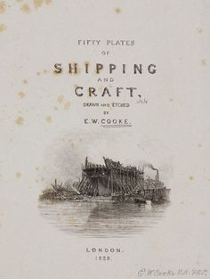 Title page to Cooke's book on shipping & craft, 1829.