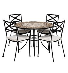 With Bold Clean Lines The Rosemoor Bistro Table And Chair Set Is Awesome Marks And Spencer Dining Room Furniture Design Decoration