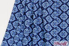 lillestoff » Rummy blau « // Design: Mia Maigrün // hier erhältlich: http://www.lillestoff.com/rummyblau-3426.html