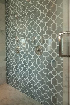 Beautiful shower tiling. Luxury home Hampton's Inspired... Somethings Gotta Give! - traditional - bathroom - san diego - Robeson Design