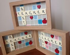 Vintage Scrabble Teacher End of Term Gift www.facebook.com/Funkyjunk.Upcycled.UK