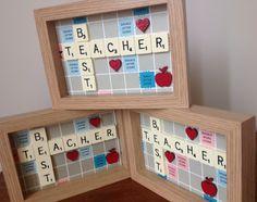Vintage Scrabble Teacher End of Term Gift www.facebook.com/Funkyjunk.Upcycled.UK
