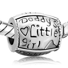 european beads authentic Pugster Daddy's Girl Charm    | egrobeck - Jewelry on ArtFire