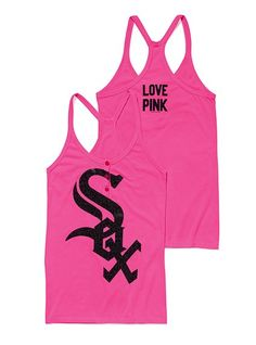 Chicago White Sox Henley Racerback Tank - Victoria's Secret Pink® - Victoria's Secret