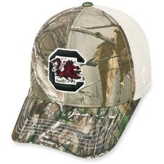 Top Of The World  South Carolina Gamecocks Fashion Camo Hat ($28) ❤ liked on Polyvore featuring men's fashion, men's accessories, men's hats, real tree and mens camo hats