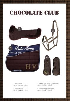 HV Polo chocolate brown and navy
