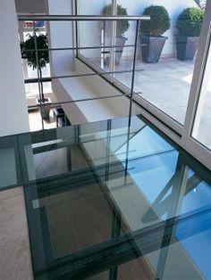 Kit plancher vitré, dalles de verre, puits de lumière, plancher de ...