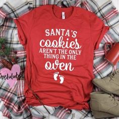 Funny Pregnancy Shirts, Pregnancy Announcement Shirt, Pregnancy Humor, Christmas Baby Announcement, Pregnancy Clothes, Cute Maternity Shirts, Thanksgiving Pregnancy Announcement, Baby Announcements, Maternity Outfits