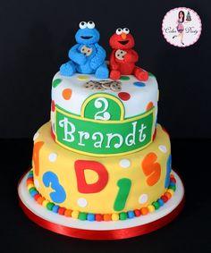 Sesame Street, Cookie Monster & Elmo #cake