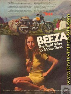 1969 BSA 441cc Victor Special Beeza Motorcycle Girl Ad