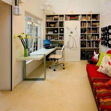 Home Office com Futon Vermelho