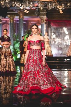 "Deepika Padukone for Manish Malhotra's ""A Persian Story"" India Couture Week 2016 Latest Bridal Dresses, Indian Bridal Outfits, Indian Bridal Fashion, Indian Designer Outfits, Indian Dresses, Designer Dresses, Wedding Dresses, Indian Clothes, Designer Wear"