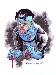 RYAN OTTLEY: FULL COLOR INVINCIBLE!! Comic Art